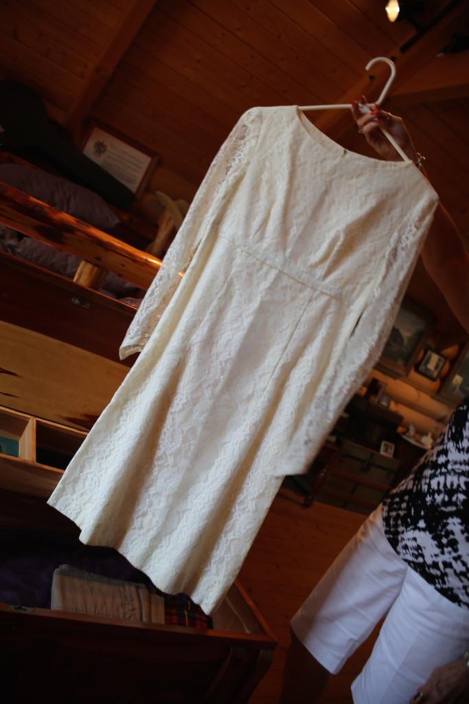 Carol's wedding dress: she saved it!